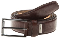 Lindenmann Luxury Fine Structure Belt Dark Brown Melange