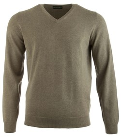 Alan Paine Rothwell Cotton-Cashmere V-Neck Landscape