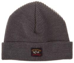 Paul & Shark Three-In-One Kompact Wool Knitted Cap Midden Grijs