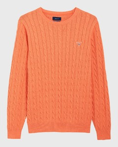 Gant Cotton Cable Crew Oranje Melange
