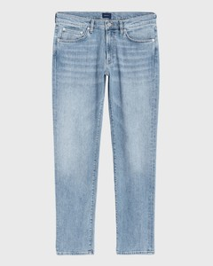 Gant Slim Straight Jeans Light Blue Worn In