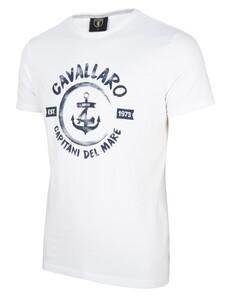 Cavallaro Napoli Capitano Tee Wit