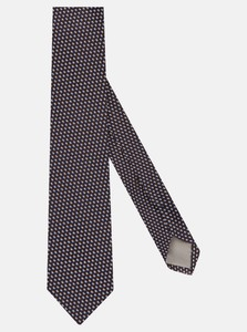 Jacques Britt Contrast Tie Donker Bruin