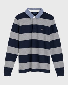 Gant The Original Barstripe Heavy Rugger Grijs Melange
