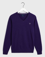 Gant Super Fine Lambswool V-Neck Parachute Purple