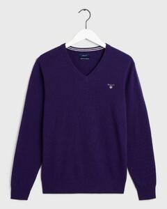 Gant Super Fine Lambswool V-Neck Parachute Purple