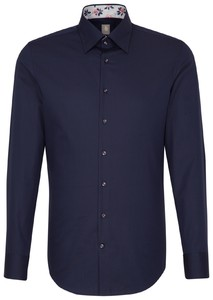 Jacques Britt Uni Hidden Button Down Navy