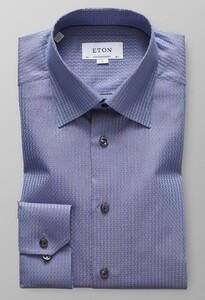Eton Textured Twill Jacquard Diep Blauw