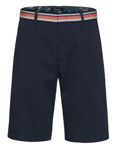 Gardeur Jasper Contrast Waistband Shorts Marine