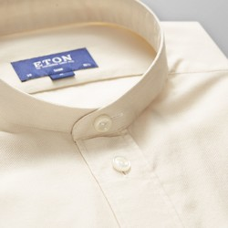 Eton Slim Uni Band Collar Vague Off White