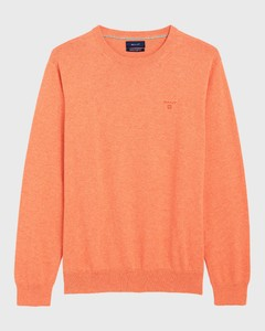 Gant Lightweight Cotton Round-Neck Oranje Melange