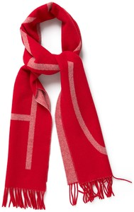 Gant GANT Logo Wool Scarf Bright Red