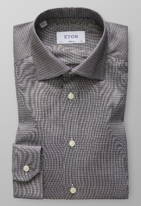 Eton Dobby Cotton-Tencel Zwart