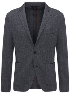 Fynch-Hatton Blazer Jersey Herringbone Navy