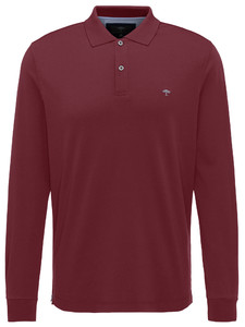 Fynch-Hatton Polo Longsleeve Interlock Merlot