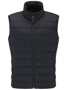 Fynch-Hatton Hybrid Vest Wool Look Navy
