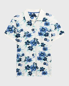 Gant All Over Floral Piqué Polo Shirt Eggshell