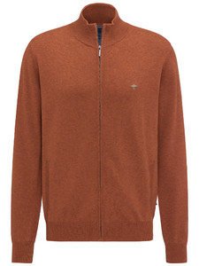 Fynch-Hatton Cardigan Zip Burnt Sienna