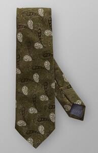 Eton Paisley Woven Tie Donker Groen