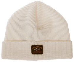 Paul & Shark Three-In-One Kompact Wool Knitted Cap Off White