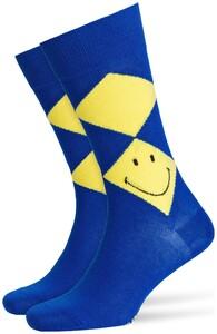 Burlington Smiley Argyle Diep Blauw