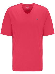 Fynch-Hatton V-Neck T-Shirt Flamingo
