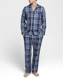 Gant Pyjama Set Check Vintage Blue
