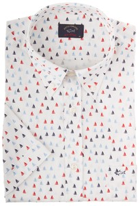 Paul & Shark The Sailing Shirt Blauw-Rood