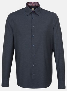 Jacques Britt Melange Button Contrast Navy