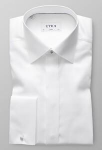 Eton Herringbone Fly Front Evening Wit
