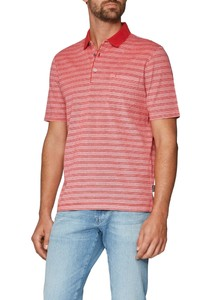 Maerz Striped Polo Peaches