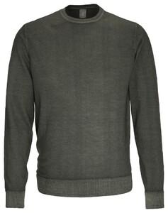 Jacques Britt Uni Pullover Donker Groen Melange