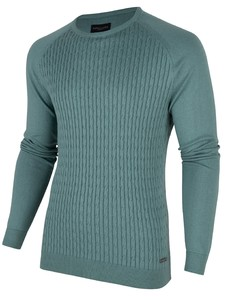 Cavallaro Napoli Ezio Cable Pullover Midden Groen
