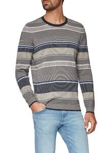 Maerz Striped Pullover New Indigo