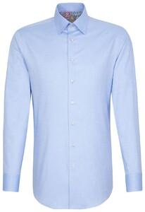 Jacques Britt Oxford Uni Hidden Button Down Blauw