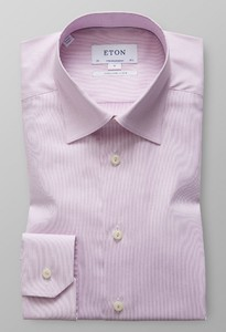 Eton Extra Long Sleeve Royal Dobby Roze