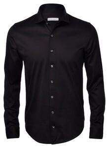 Gran Sasso Mercerized Cotton Jersey Zwart