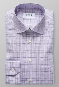 Eton Classic Overcheck Twill Paars