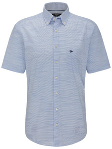 Fynch-Hatton New Barreé Shirt Blauw