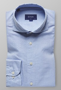 Eton Slim Cotton Silk Sky Blue