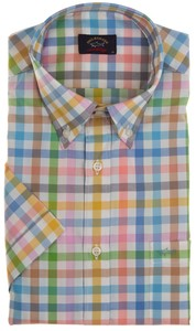 Paul & Shark Pastel Colored Check Shirt Multicolor