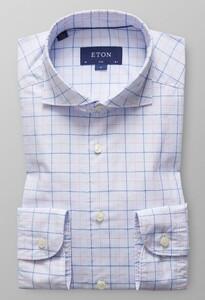 Eton Lightweight Twill Check Roze