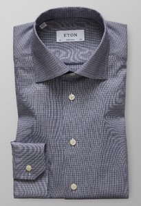Eton Dobby Cotton-Tencel Dark Navy