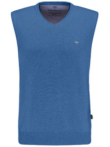 Fynch-Hatton Slipover Uni V-Neck Azure
