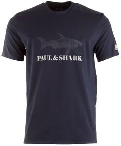 Paul & Shark Reflective Shark T-Shirt Navy
