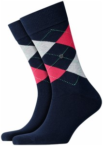 Burlington King Socks Navy Melange
