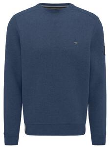 Fynch-Hatton O-Neck Sporty Sweat Denim Blue