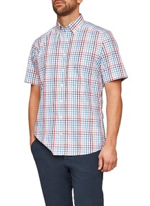 Maerz Short Sleeve Check Just Red