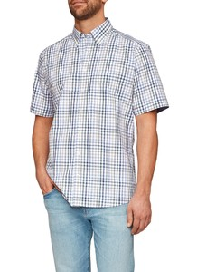 Maerz Short Sleeve Check Dark Rosemary
