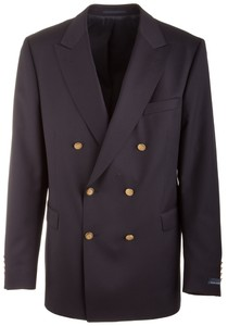 EDUARD DRESSLER Noceto Comfort Fit Double Breasted Blazer Navy
